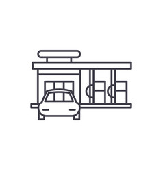 small gas station line icon concept small gas vector image