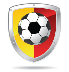 soccer shield vector image