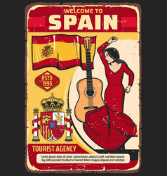 spain travel landmarks culture tourism vector image