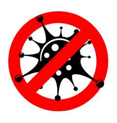 Stop 2019-ncov coronavirus sign vector