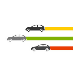 three cars vector image
