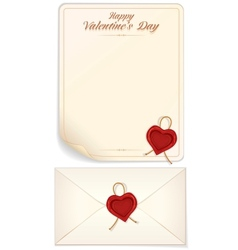Valentine Day Love Letter Print Template vector image