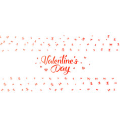 valentines day background with gifts vector image