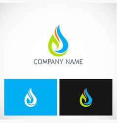 water drop ecology leaf company logo vector image
