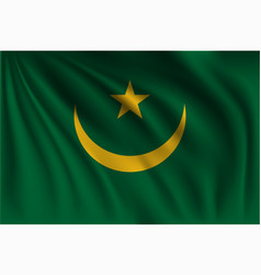 Waving mauritania vector
