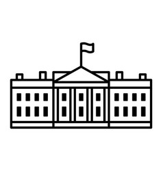 white house white house government building icon vector image