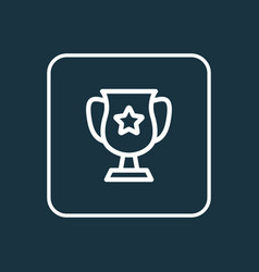 winner cup icon line symbol premium quality vector image