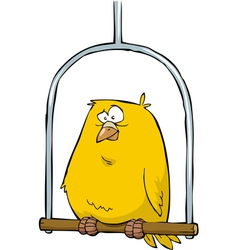 canary in the pole vector image vector image