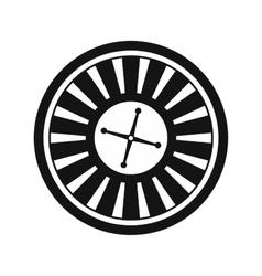 Casino symbol roulette icon vector image