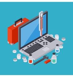 Computer service concept vector image