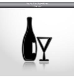 glass bottle web icon vector image