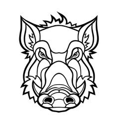 Head of boar mascot design vector image