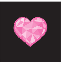 heart in polygonal style vector image
