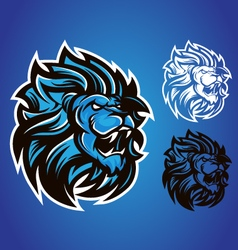 lion blue logo vector image vector image