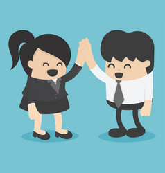 men and women shaking hands entrepreneurs vector image vector image
