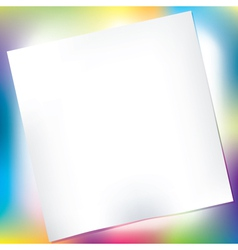 notepad over colorful background vector image