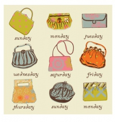 set of woman bags vector image vector image