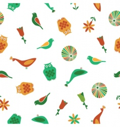 bird pattern seamless vector image