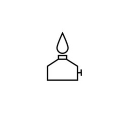 burner line icon vector image