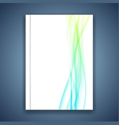 business fresh abstract modern wave lines folder vector image vector image