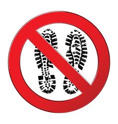 sign forbidden shoe vector image