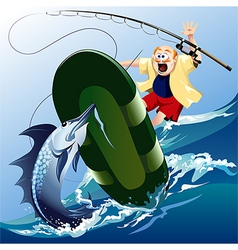 Swordfish attack vector image