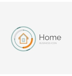 Thin line neat design logo home idea vector image vector image