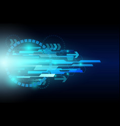 arrow speed communication technology vector image
