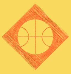 basketball ball sign red vector image