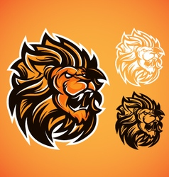 lion red logo vector image vector image