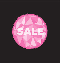 sale pink with polygon background vector image vector image