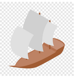 yacht isometric icon vector image