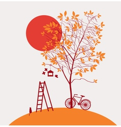 autumn has come vector image