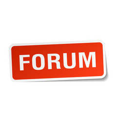 forum square sticker on white vector image vector image