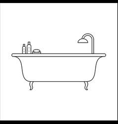 freestanding bath home furniture lineart design vector image vector image