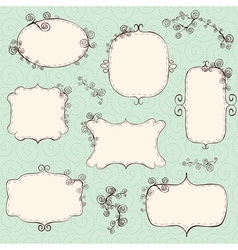 hand drawn frames vector image vector image