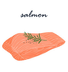 salmon fish food help fat burning vector image vector image
