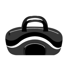 sports bag front view graphic vector image