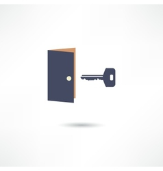 The door and the key vector image vector image