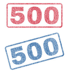 500 textile stamps vector