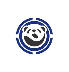abstract panda icon logo concept vector image