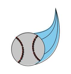 ball baseball related icon image vector image