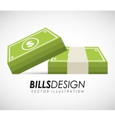 bills money vector image