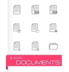 Black dog icon set vector
