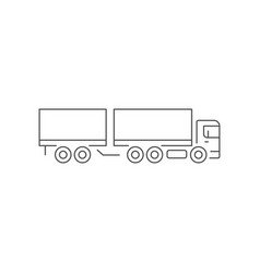 box truck line outline icon vector image