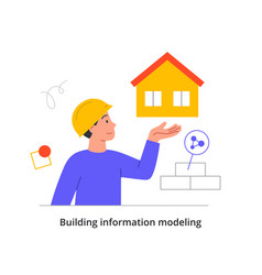 Building project concept vector