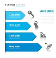 Business arrow banner infographics vector image