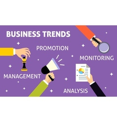 Business trends hands vector image