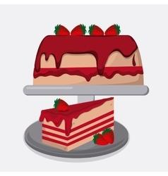 Cake icon design vector