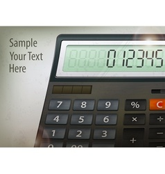 Calculator text vector image